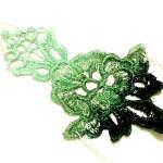Lace Necklace Hand Dyed - Flower in..